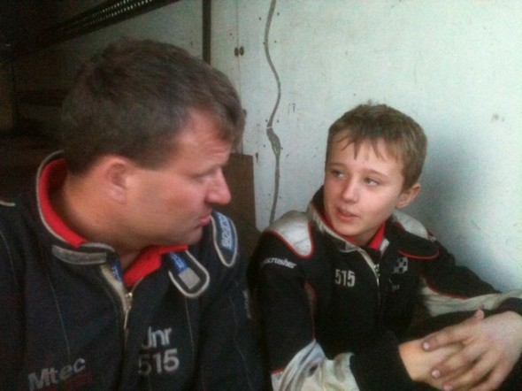 Frankie JJ gets some pre-meeting advice from his dad