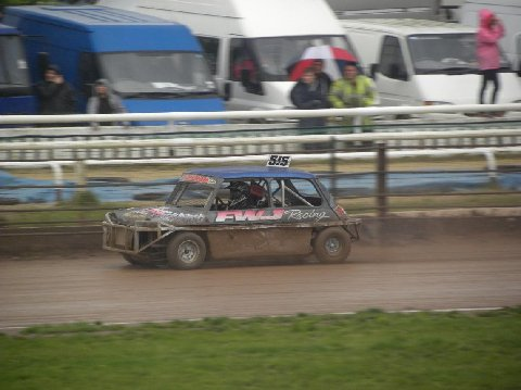 Frankie JJ in the wet second heat