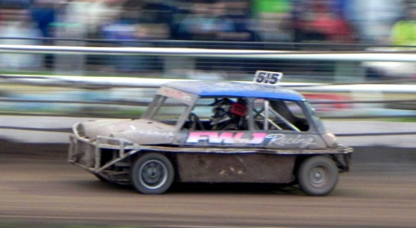 Frankie JJ at speed in the Final