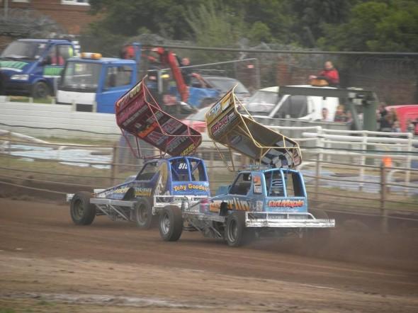 Racing with Paul.