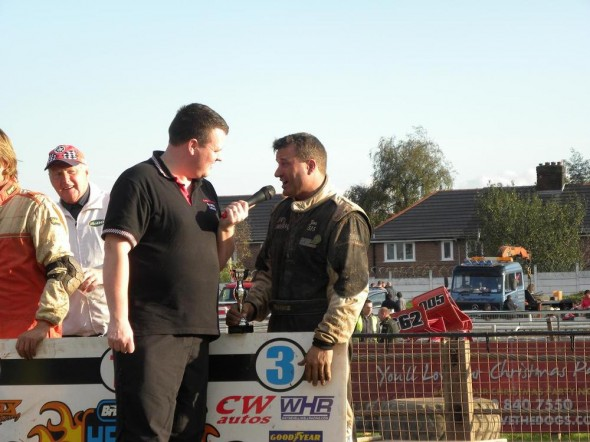Post race interview with Gary Osbourne