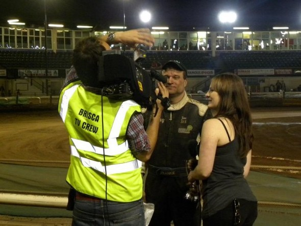 Interview with the Premier Sports TV crew after the GN win