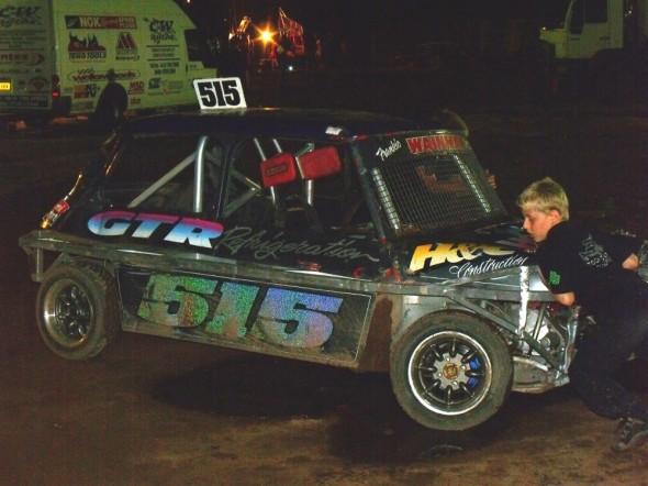 Frankie JJ's car get a push