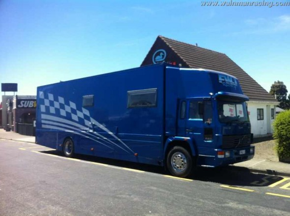 The NZ truck after passing it's MOT