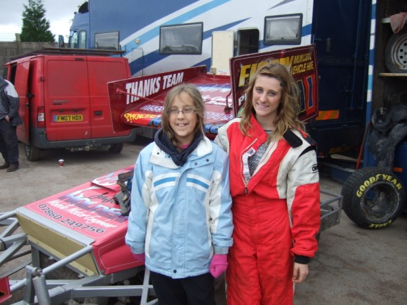Amelia Aisthorpe with Phoebe at Belle Vue. Amelia had to wait most of the season for this, due to school.