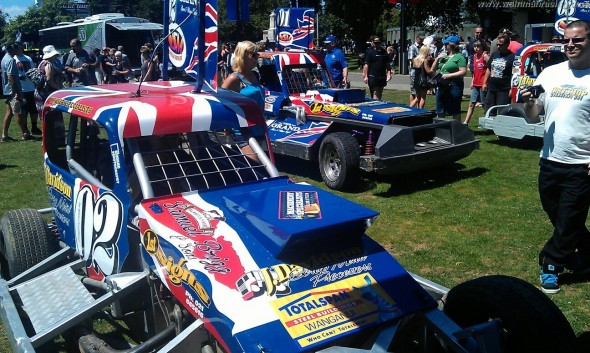 Pre-championship display and scrutineering in the town centre. (Photo: Frits van Dis)