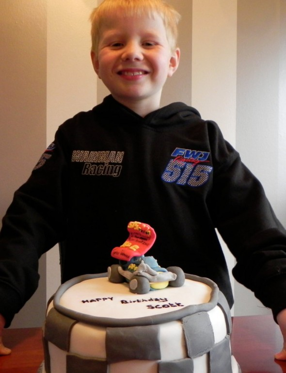 Scott Hesketh got an FWJ hoodie for his birthday, plus a cake with the 515 car on top