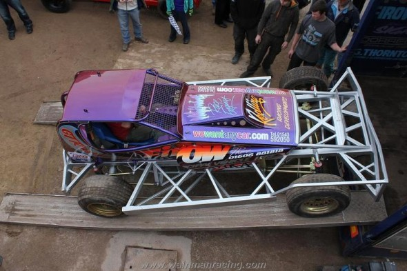 The refurbished shale car makes its first public appearance.