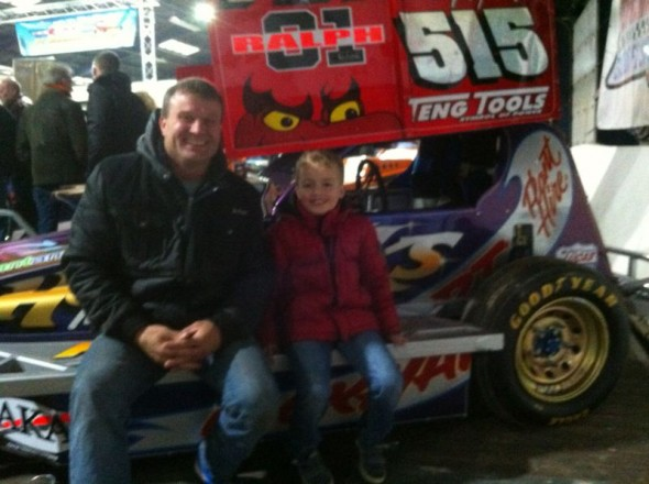Wilco Terpstra at the Stock Car Show at Sneek in The Netherlands last month.