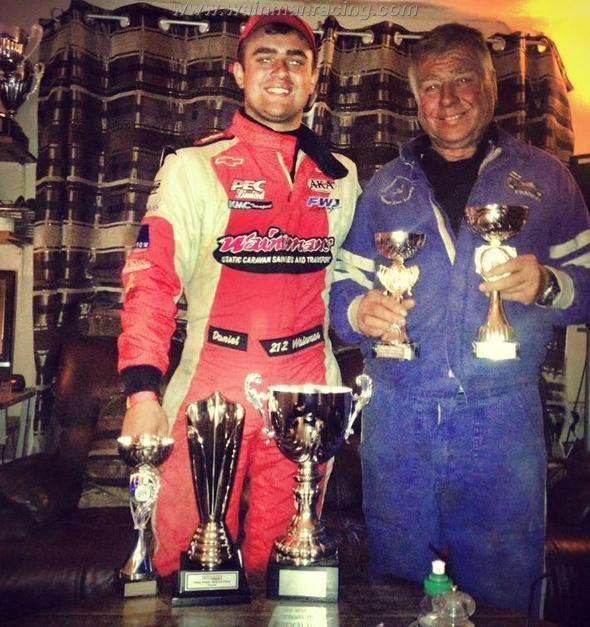 Danny and Frank Senior show off their trophies from the weekend. (AW)