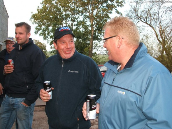 Rob having a beer with Thornie at the Open Day.