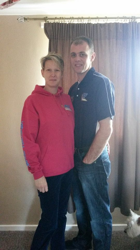Samantha Armitage and Mark Osborne bought each other some Wainman merchandise for Christmas.