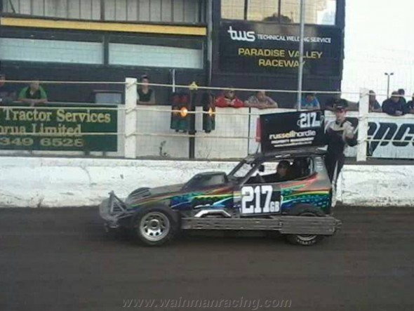 Lee Fairhurst on the parade lap.