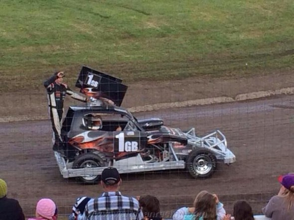Tom Harris on the parade lap.