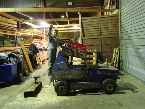 Luke Bond's mini stock car.